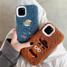 Load image into Gallery viewer, Winnie the Pooh Style Embroidery Furry Shockproof Protective Designer iPhone Case For iPhone 11 Pro Max X XS Max XR 7 8 Plus - Casememe.com
