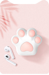 Cute Pink Paw Silicone Protective Shockproof Case For Apple Airpods 1 & 2 - Casememe.com