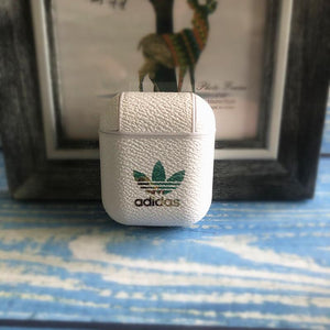 Adidas Original Style Classic Logo Leather Protective Shockproof Case For Apple Airpods 1 & 2 - Casememe.com