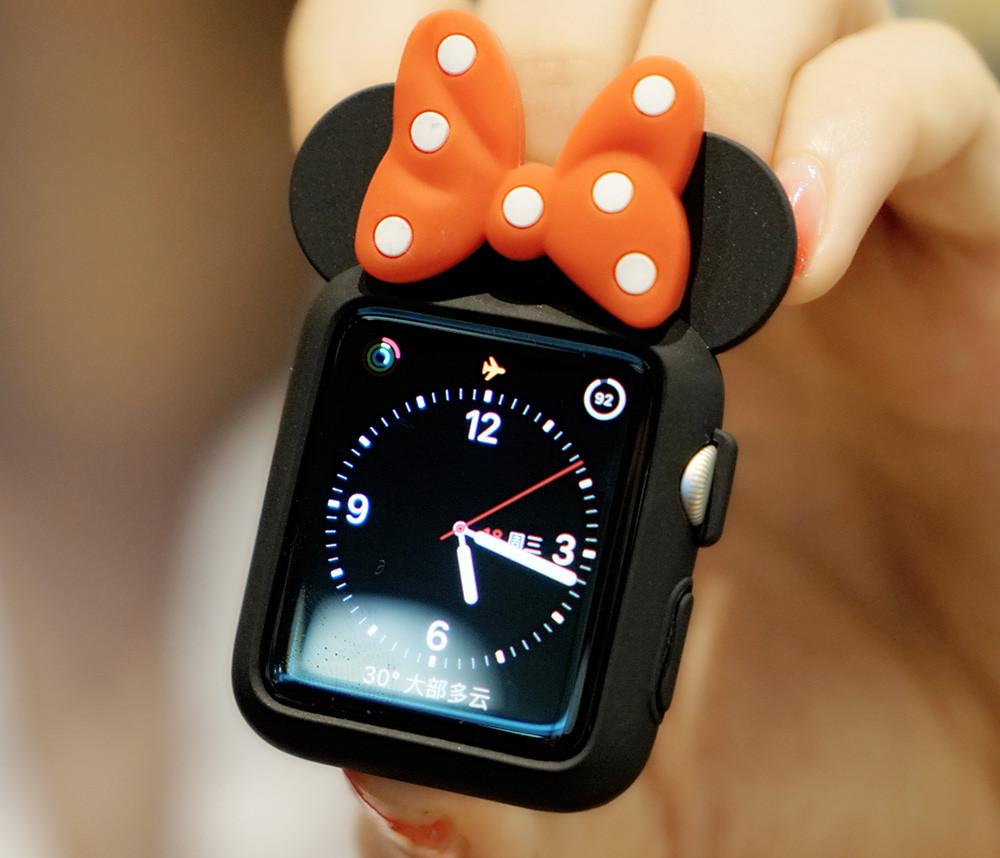 Disney Minnie Style Compatible With Apple Watch Silicone Case 38mm 40mm 42mm 44mm For iWatch Series 4/3/2/1 - Casememe.com