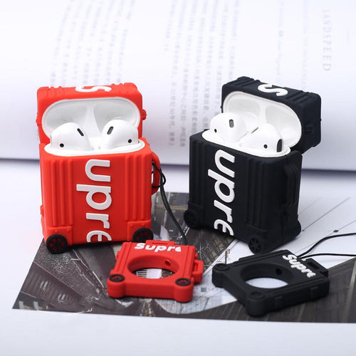 Supreme Style Luggage Silicone Protective Shockproof Case For Apple Airpods 1 & 2 - Casememe.com