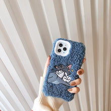 Load image into Gallery viewer, Tom And Jerry Style Furry Shockproof Protective Designer iPhone Case For iPhone SE 11 Pro Max X XS Max XR 7 8 Plus - Casememe.com