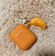 Load image into Gallery viewer, Orange Peel Summer Fruit Silicone Protective Shockproof Case For Apple Airpods 1 & 2 - Casememe.com