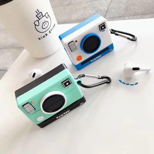 Polaroid Camera Silicone Square Protective Case For Apple Airpods Pro - Casememe.com
