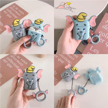Load image into Gallery viewer, Dumbo Flying Elephant Silicone Protective Shockproof Case For Apple Airpods 1 & 2 - Casememe.com