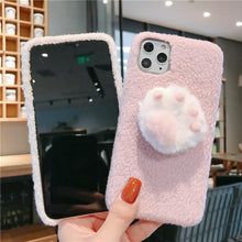 Load image into Gallery viewer, Cute 3D Paw Furry Shockproof Protective Designer iPhone Case For iPhone 11 Pro Max X XS Max XR 7 8 Plus - Casememe.com