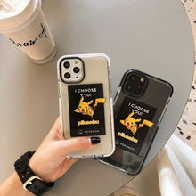 Load image into Gallery viewer, Pikachu Style Clear Silicone Shockproof Protective Designer iPhone Case For iPhone SE 11 Pro Max X XS Max XR 7 8 Plus - Casememe.com
