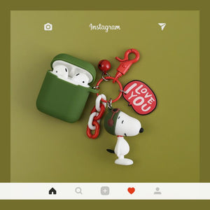 Snoopy Charles Silicone Protective Shockproof Case For Apple Airpods 1 & 2 - Casememe.com