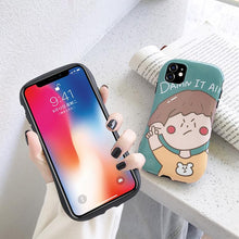 Load image into Gallery viewer, Cute Girl Round Corner Shockproof Protective Designer iPhone Case For iPhone SE 11 Pro Max X XS Max XR 7 8 Plus - Casememe.com