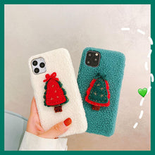 Load image into Gallery viewer, Christmas Tree Furry Shockproof Protective Designer iPhone Case For iPhone 11 Pro Max X XS Max XR 7 8 Plus - Casememe.com