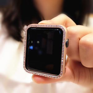 Diamond Bling Hard Frame Compatible With Apple Watch Case 38mm 40mm 42mm 44mm For iWatch Series 4/3/2/1 - Casememe.com