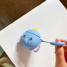 Load image into Gallery viewer, Disney Style Dumbo Flying Elephant Silicone Protective Shockproof Case For Apple Airpods 1 & 2 - Casememe.com