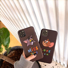 Load image into Gallery viewer, Tom And Jerry Style Matte Silicone Shockproof Protective Designer iPhone Case For iPhone 11 Pro Max X XS Max XR 7 8 Plus - Casememe.com