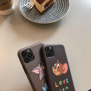 Tom And Jerry Style Matte Silicone Shockproof Protective Designer iPhone Case For iPhone 11 Pro Max X XS Max XR 7 8 Plus - Casememe.com