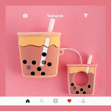 Load image into Gallery viewer, Boba Bubble Tea Cute 3D Silicone Protective Shockproof Case For Apple Airpods 1 & 2 - Casememe.com