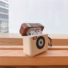 Load image into Gallery viewer, Retro Camera Silicone Protective Case For Apple Airpods Pro - Casememe.com