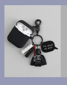 Star Wars Style Dark Knight Silicone Protective Shockproof Case For Apple Airpods 1 & 2 - Casememe.com