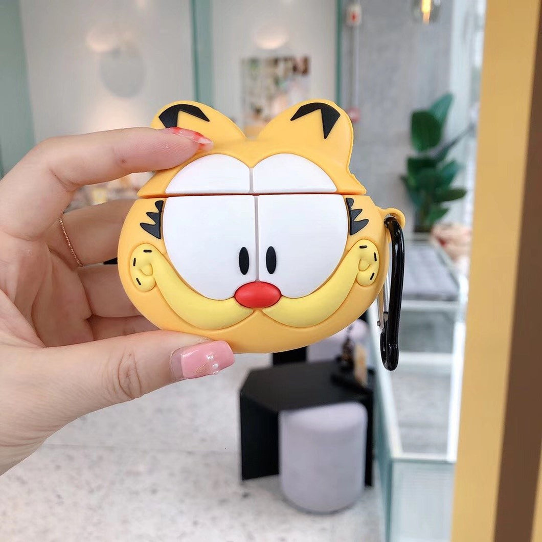 Garfield Style Cat Face Silicone Protective Shockproof Case For Apple Airpods 1 & 2 - Casememe.com