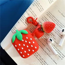 Load image into Gallery viewer, Cute Strawberry Silicone Protective Shockproof Case For Apple Airpods 1 & 2 - Casememe.com