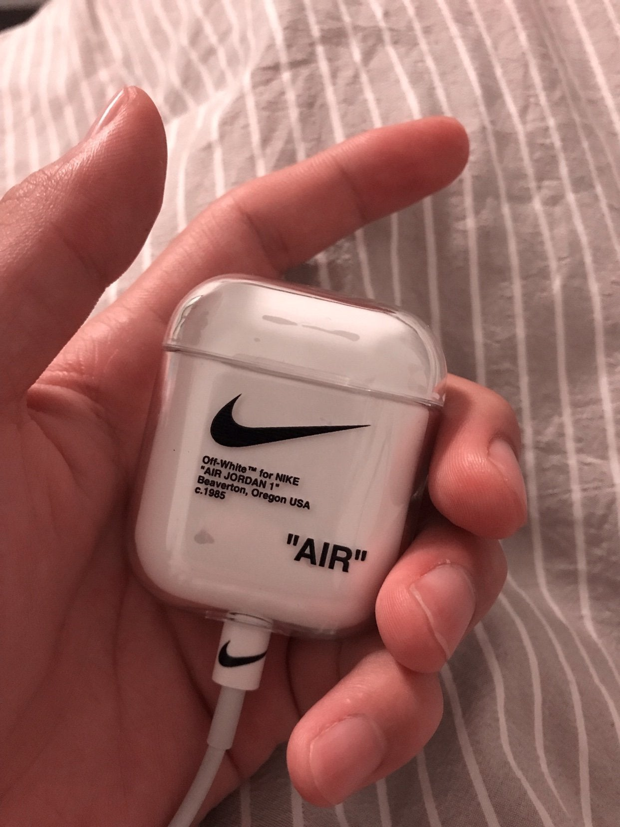 Nike X Off White Ow Style Clear Hard Protective Shockproof Case