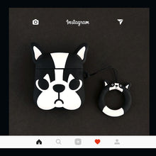 Load image into Gallery viewer, Marc Jacobs Style French Bulldog Silicone Protective Shockproof Case For Apple Airpods 1 & 2 - Casememe.com