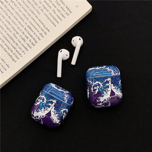 The Great Wave off Kanagawa Ukiyo-e Hard Protective Shockproof Case For Apple Airpods 1 & 2