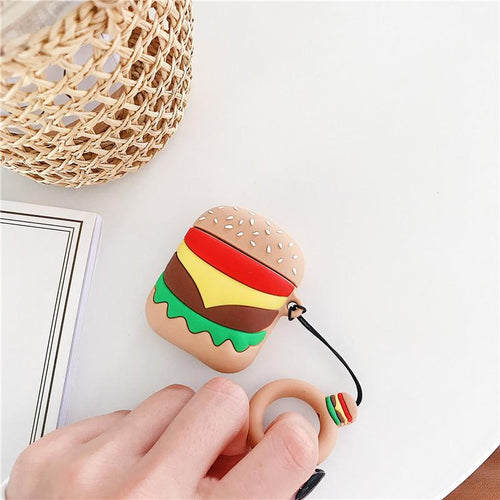 Cute Hamburger Silicone Protective Shockproof Case For Apple Airpods 1 & 2 - Casememe
