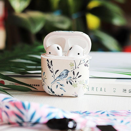 Chic Floral Simple White Hard Silicone Protective Shockproof Case For Apple Airpods 1 & 2 - Casememe