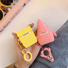 Load image into Gallery viewer, Spongebob Style Patrick Silicone Protective Shockproof Case For Apple Airpods 1 & 2 - Casememe.com
