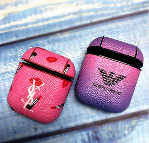 Giorgio Armani Saint Laurent Paris Style Lipsticks Leather Protective Shockproof Case For Apple Airpods 1 & 2 - Casememe.com