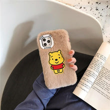 Load image into Gallery viewer, Winnie The Pooh Style Cute Furry Shockproof Protective Designer iPhone Case For iPhone SE 11 Pro Max X XS Max XR 7 8 Plus - Casememe.com