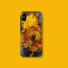Load image into Gallery viewer, Van Gogh Style Sunflower Painting Silicone Shockproof Protective Designer iPhone Case For iPhone SE 11 Pro Max X XS Max XR 7 8 Plus - Casememe.com