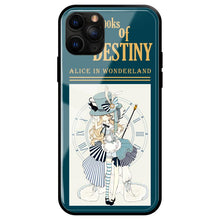 Load image into Gallery viewer, Alice In Wonderland Style Tempered Glass Shockproof Protective Designer iPhone Case For iPhone SE 11 Pro Max X XS Max XR 7 8 Plus - Casememe.com