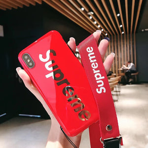 Supreme Style Glossy Electroplating Silicone Designer iPhone Case For iPhone X XS XS Max XR 7 8 Plus - Casememe.com