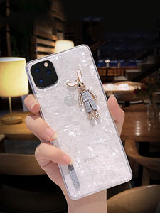 3D Rabbit Shell Clear Silicone Shockproof Protective Designer iPhone Case For iPhone SE 11 Pro Max X XS Max XR 7 8 Plus - Casememe.com