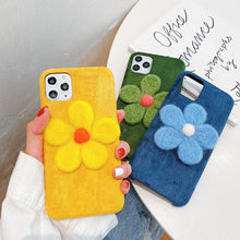 Load image into Gallery viewer, Stitch Floral Furry Shockproof Protective Designer iPhone Case For iPhone 11 Pro Max X XS Max XR 7 8 Plus - Casememe.com