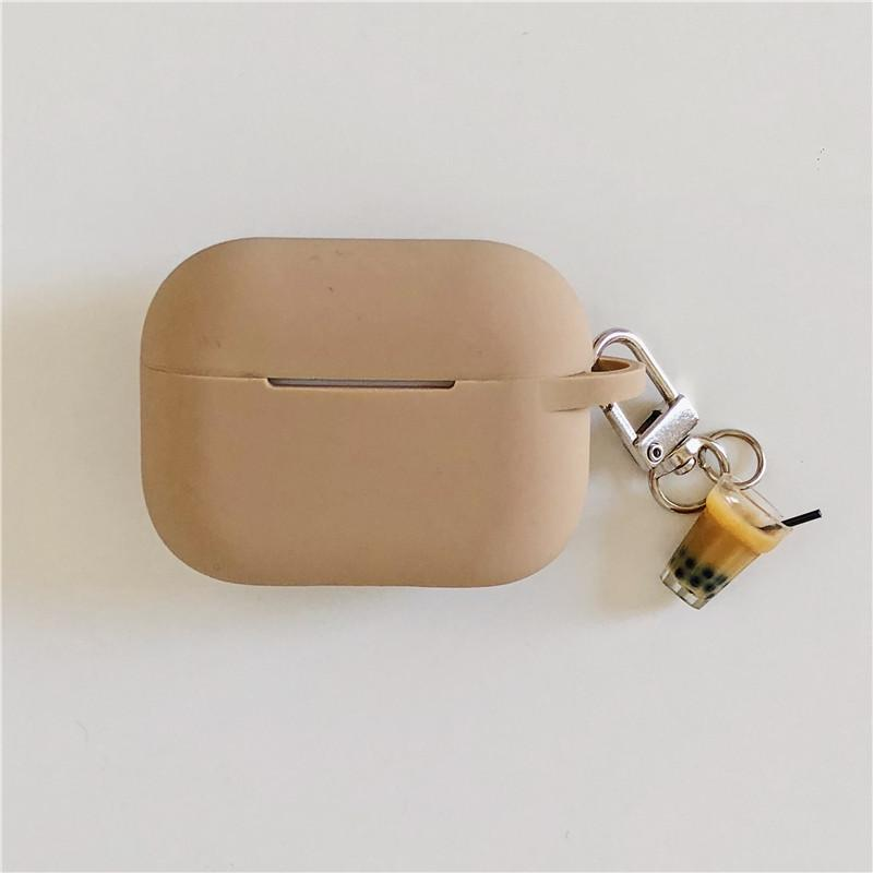 Bubble Tea Keychain Silicone Protective Case For Apple Airpods Pro - Casememe.com
