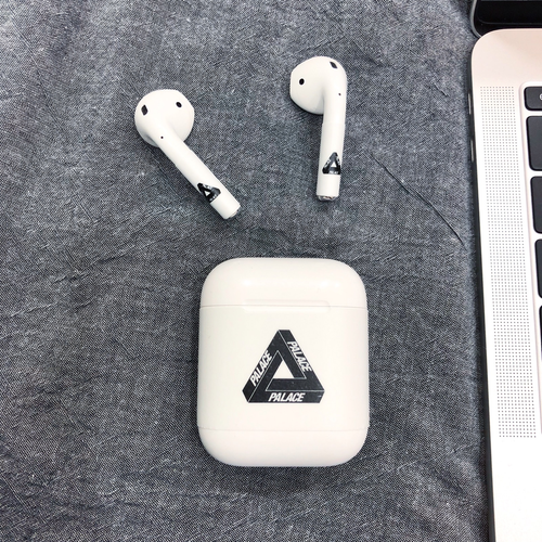 Palace Style Minimalism AirPods Skin Sticker Adhesive Protective Decal For Apple AirPods 1 & 2 - Casememe.com