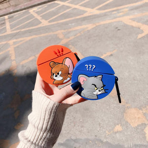 Tom And Jerry Style Silicone Protective Case For Apple Airpods 1 & 2 - Casememe.com
