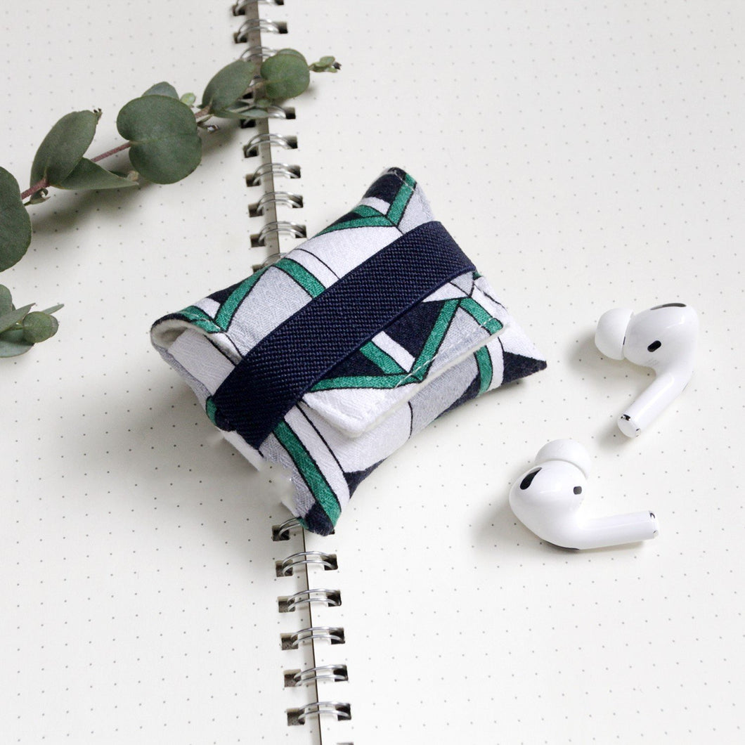 Geometric Pattern Soft Fabric Storage Bag Protective Case For Apple Airpods Pro - Casememe.com