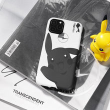 Load image into Gallery viewer, FRAGEMENT x Dark Pikachu Style Silicone Shockproof Protective Designer iPhone Case For iPhone SE 11 Pro Max X XS Max XR 7 8 Plus - Casememe.com