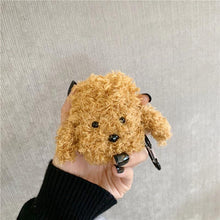 Load image into Gallery viewer, Teddy Poodle Dog Furry Protective Case For Apple Airpods 1 & 2 - Casememe.com