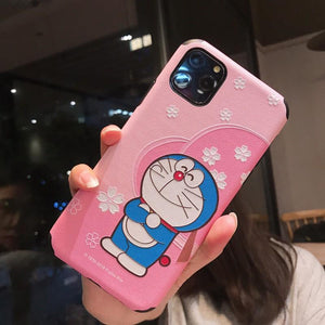 Doraemon Style Sculpted Silicone Shockproof Protective Designer iPhone Case For iPhone SE 11 Pro Max X XS Max XR 7 8 Plus - Casememe.com