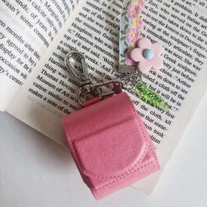 Floral Keychain Leather Protective Case For Apple Airpods Pro - Casememe.com