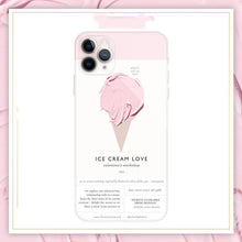 Load image into Gallery viewer, Ice Cream Silicone Shockproof Protective Designer iPhone Case For iPhone SE 11 Pro Max X XS Max XR 7 8 Plus - Casememe.com