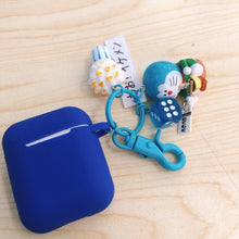 Load image into Gallery viewer, Doraemon Blue Silicone Protective Shockproof Case For Apple Airpods 1 & 2 - Casememe.com