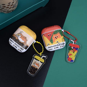 Cute Cat Dog Hard Protective Case For Apple Airpods 1 & 2 - Casememe.com
