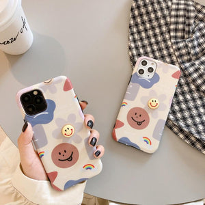 Takashi Style Flower Glossy Shockproof Protective Designer iPhone Case For iPhone SE 11 Pro Max X XS Max XR 7 8 Plus - Casememe.com