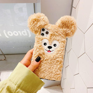 Cute Duffy Furry Shockproof Protective Designer iPhone Case For iPhone SE 11 Pro Max X XS Max XR 7 8 Plus - Casememe.com