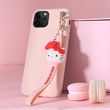 Load image into Gallery viewer, Hello Kitty Style Keychain Shockproof Protective Designer iPhone Case For iPhone SE 11 Pro Max X XS Max XR 7 8 Plus - Casememe.com